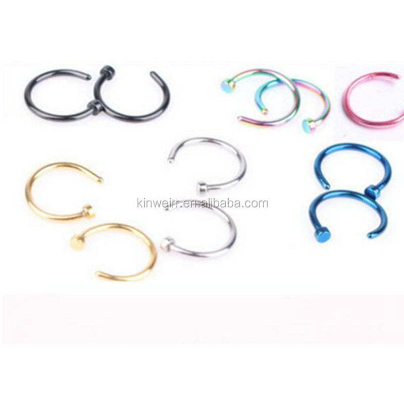Non Piercing Ornate Adjustable Fake Hoop Nose Ring For Sale