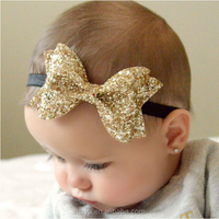fashion lovable sequins big hair bows with hair band for baby gril