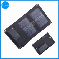 3W foldable solar mobile phone battery charger with 2000mAh battery