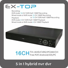 5 in1 h 264 remote control 16 Channel dvr Support two hard disk