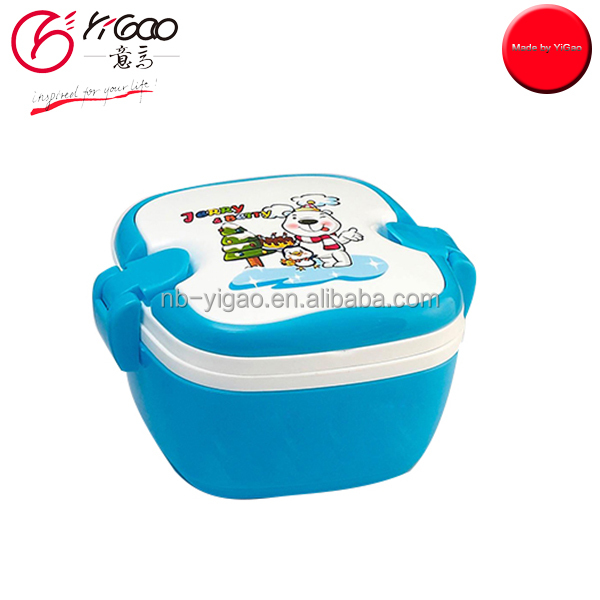 102374 lock and lock food container Storage Box Kids Lunch Box 2 Layer Lunch Box