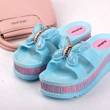Women Summer Fashion Peep Toe Jelly Flat Plastic Sandals Casula Ladies Slip On Beach Slipper Shoes