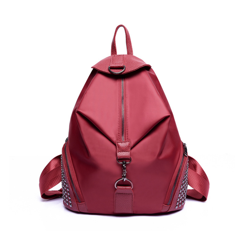 Factory direct sale rivet women new arrival girl school causal fashion travelling backpack