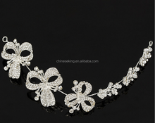High quality flower hair clasp unique design flower head clips 2016 stylish white flower barrette