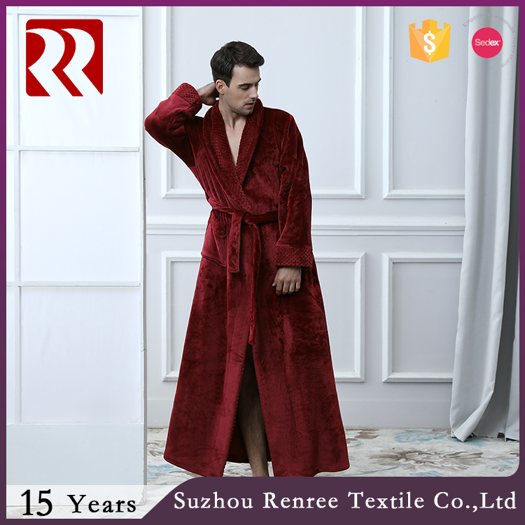 Super Soft Mens long and big robe in Winter