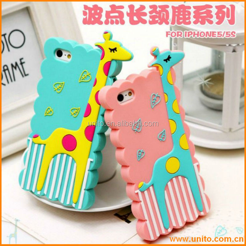 2014 New arrival!! hot selling mobile phone case,animal silicone for iphone 5 case