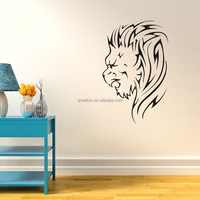 ARTRYST Home Decoration Vinyl Wall Decor Removable Black Lion Quote Kids Wall Stickers Animal