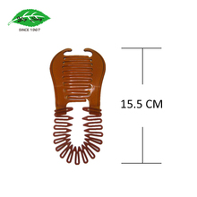 Interlocking Banana Combs Hair Clip French Side Comb Holder Soft and Bendable Plastic Updo Hair Clip
