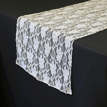 Wholesale Cheap Lace Table Runners White/Black For Wedding/Banquet Decor