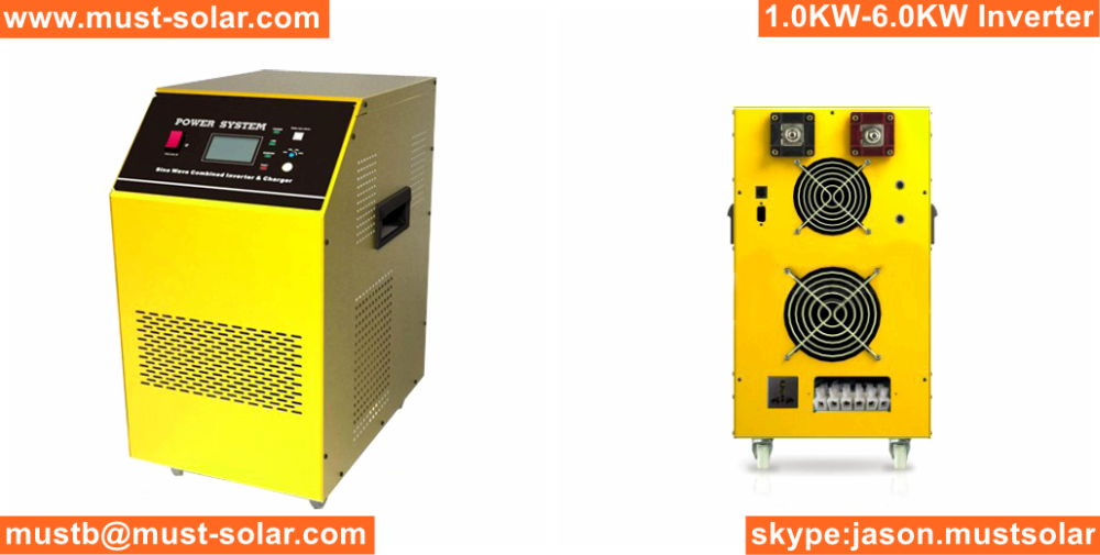 24v 48v 220v 5000W Low Frequency Pure Sine Wave Battery Inverter Charger 4kw 5kw 6kw