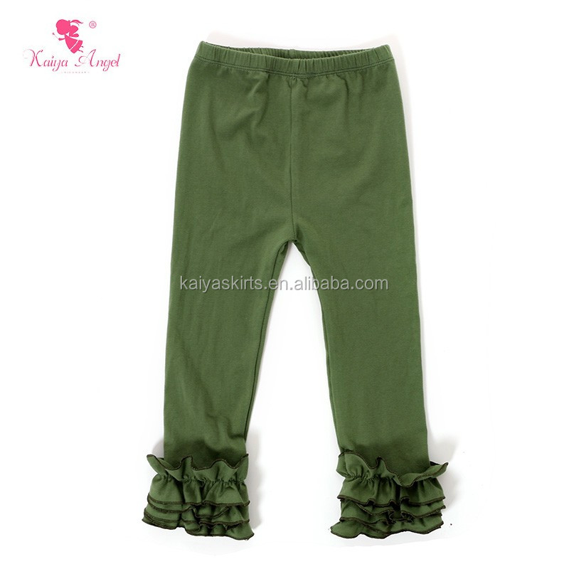 baby girls cotton ruffle pants icing leggings