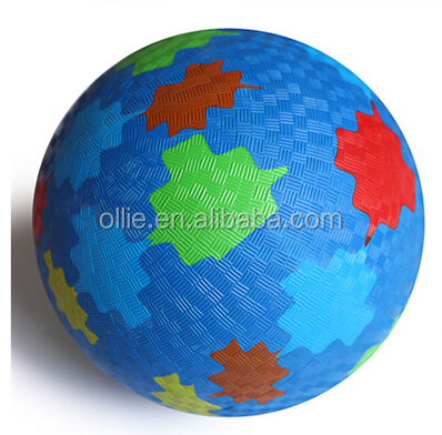 custom rubber material bouncing playground ball