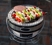 Portable Ceramic Grills Charcoal Smoker for Indoor&Outdoor Cooking