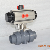 light weight 2way UPVC plastic ball valve with pneumatic actuator
