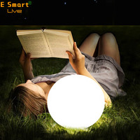 Pretty Decoration PE plastic solar LED Ball LED floating pool balls Light for garden Outdoor