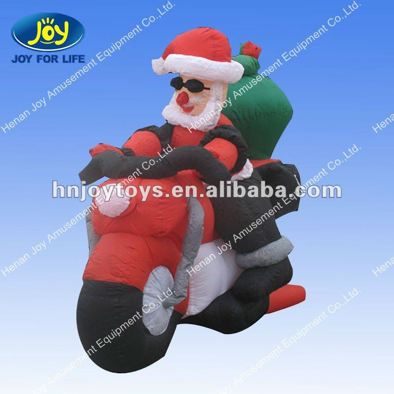 Outdoors Inflatable Santa Moto