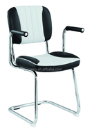 Popular Wholesale Cheap Price PU Leather Metal Chrome dining chair