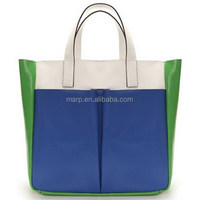 Reusable Eco women fashion large tote shopping bag with zipper