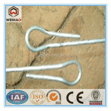 Recycling bale double loop tie wire