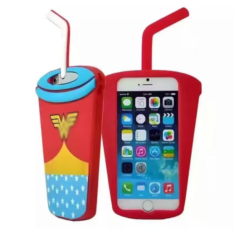 2016 3d silicon bottle shape case for galaxy j2 , for iphone 6 / 6s cute cute mobile phone cover