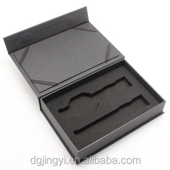 Luxury rectangle paper watch display packaging box with custom logo