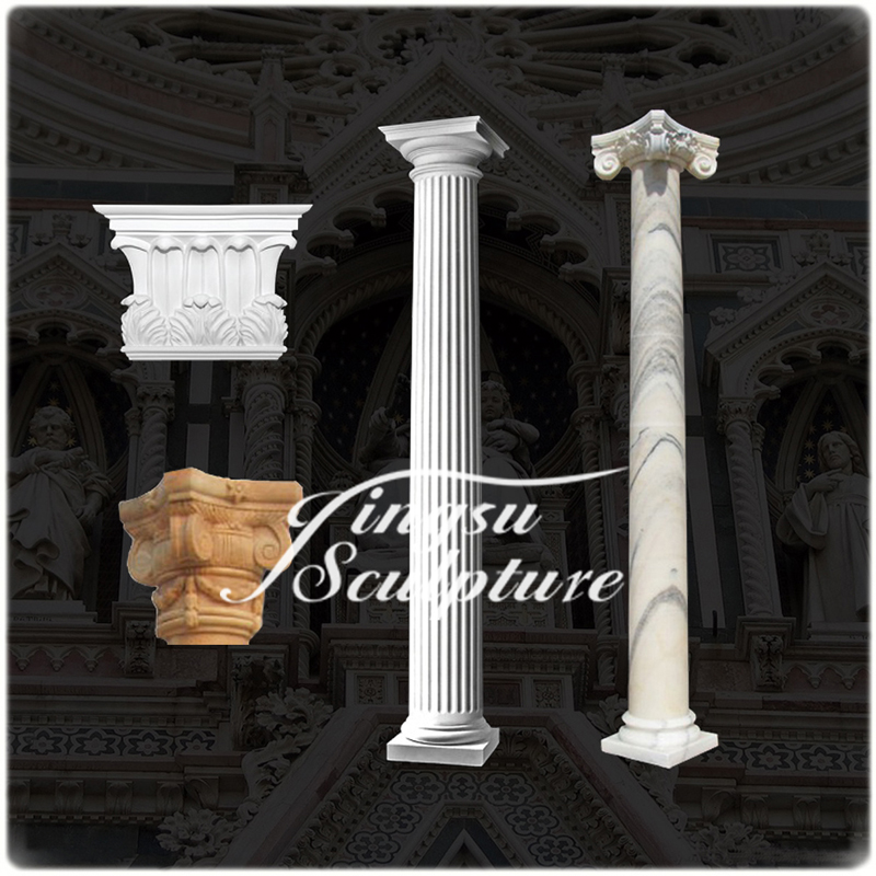 Professional hand carved stone pillar