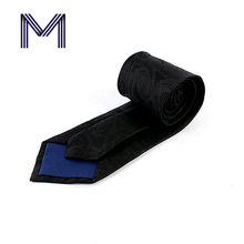 High quality brand jacquard black woven natural formal mens ties silk