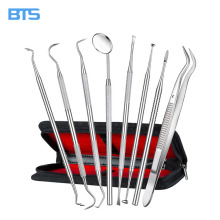 Hot selling medical stainless steel dental scalar kit dental hygiene kit dentist prepared tools kit