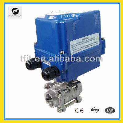 AC120V DN40 Electric Valve With Actuator for solar thermal,under-floor,rain water,irrigation,plumbing service