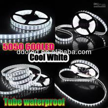 5050 double row continuous length flexible led light strip cool white