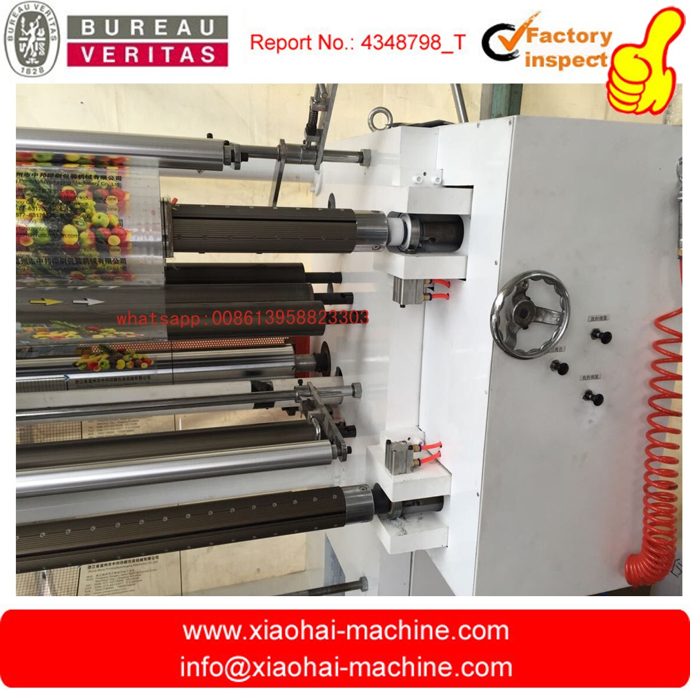 Automatic Paper plastic film PVC PET BOPP slitting and rewinding machine with flat and disc knife and full automatic tension