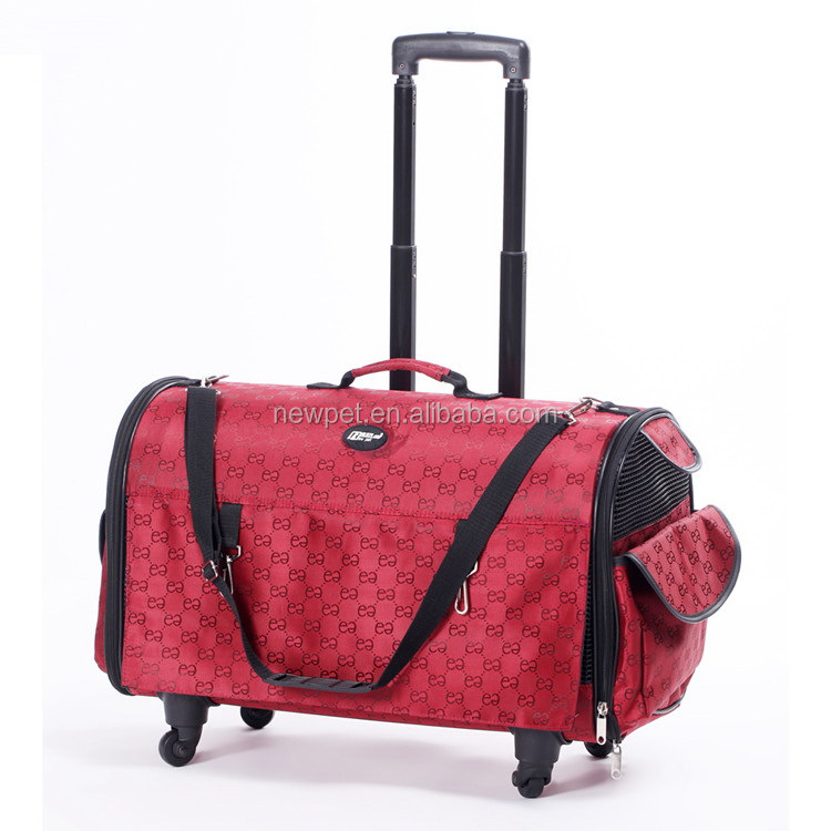 High quality attractive fashion functional trolley bag cage durable satchel pet bag