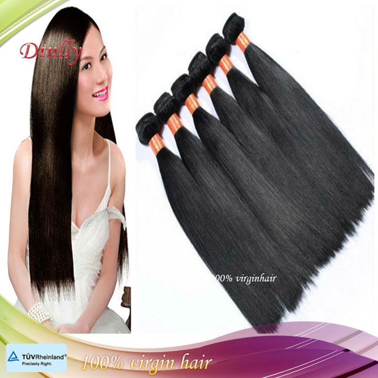 Qingdao Dinlly Different Colors Available hair Supplier 22 Inches #1B Color 100g/pc First Class Malaysian Bundle Hair
