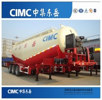 CIMC tri-axle 50cbm cement bulker trailer/used bulk cement tanker truck for sale