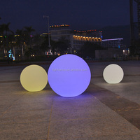 Solar globe LED round plastic ball light garden beach ball light