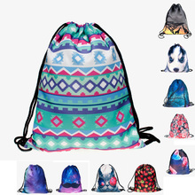 New fashion backpack drawstring bags 3D sublimation printing travel sofaback unisex backpack