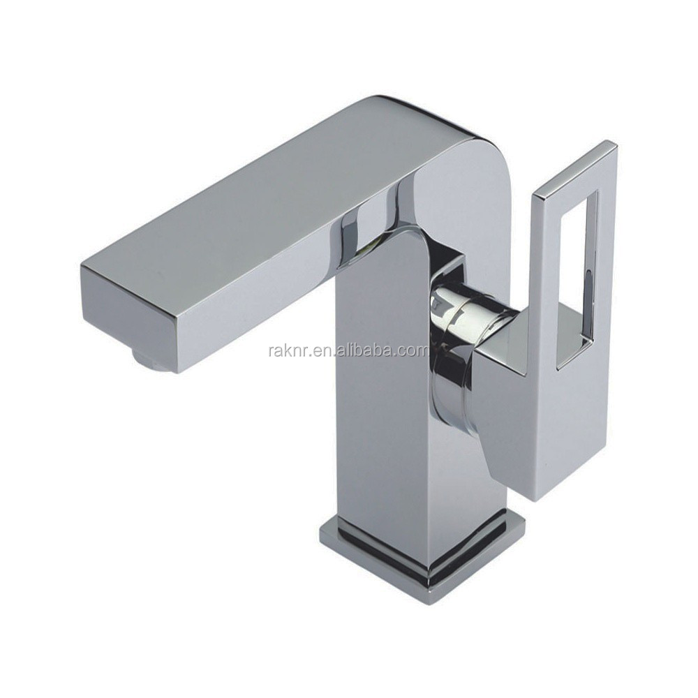 Mono Chrome Logo Side Action Basin Mixer Tap Without Waste MP118
