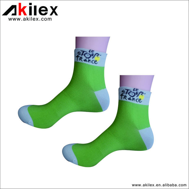 2014 Fashion Pattern Logo Printed Elite Cotton Cycling Socks in Hot Sale!