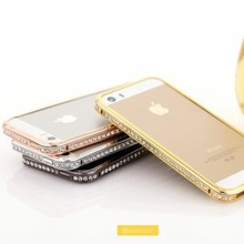 Aluminum bumper case for apple iphone 5s 64gb diamond bling case