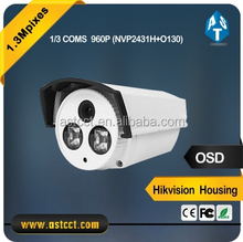 High quality Hikvision housing outdoor 1.3MP 960P AHD CMOS sensor Color IR mini Bullet CCTV Camera