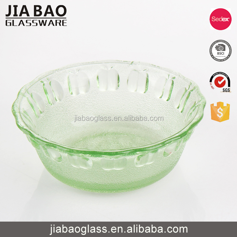 High quality wholesale large colored glass fruit bowls