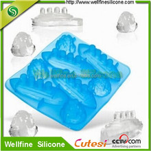 Titanic ship shape with Ice mountain Food grade ice cube tray silicone