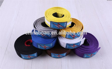 Factory direct sale cotton high quality karate belt judo gi belts bjj
