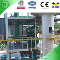 Oil distillation machine recycling used engine oil to diesel and gasoline