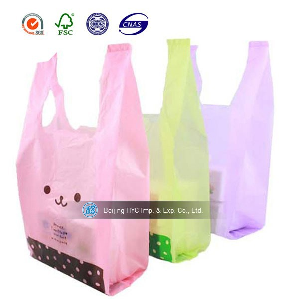 durable promotion luxury HDPE plastic bag plastic grocery bags