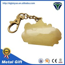 Hot sales custom design Zinc alloy name rice keychain for souvenir