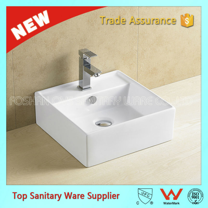 CUPC One Piece Chinese Modern Commercial Ceramic White Bath Sink Price Bathroom Sink and Countertop