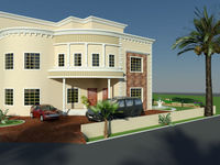 SAUDI ARABIA NEW LUXURY MODERN VILLA 3D FRONT ELEVATION PLAN INTERIOR DESIGN Services