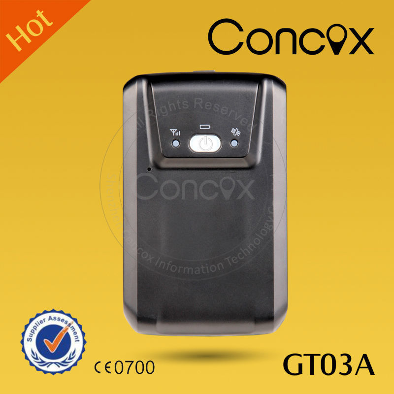 Long battery life GPS tracker Concox GT03A support the cargo/container long time transportation tracking.