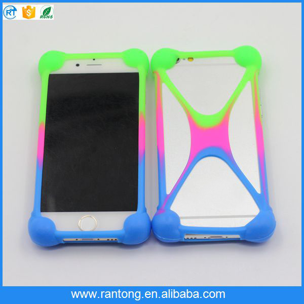 high quality universal silicone bumper back cover case for sell